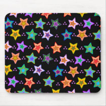 Colorful star pattern mouse pad