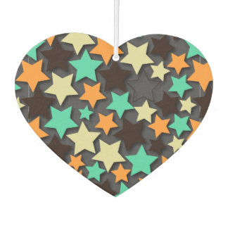 Colorful Star Pattern With Dark Background Car Air Freshener