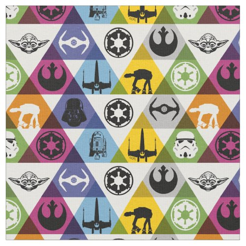 Colorful Star Wars Geometric Pattern Fabric