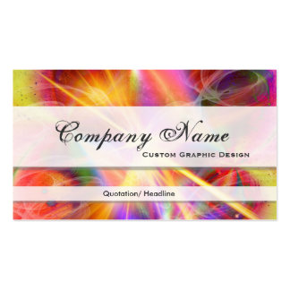 Colorful Starburst Graphic Designer Business Cards