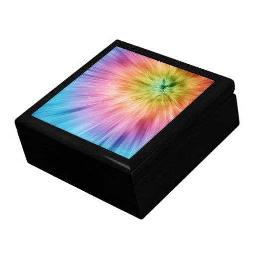 Colorful Starburst Tie Dye Jewelry Boxes