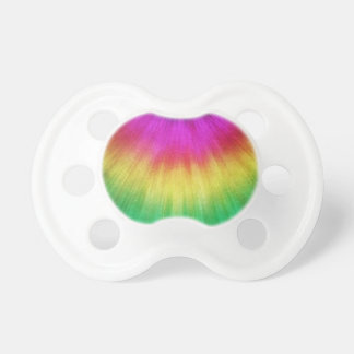 Colorful Starburst Tie Dye Pacifier