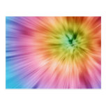 Colorful Starburst Tie Dye Post Cards