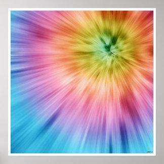 Colorful Starburst Tie Dye Poster