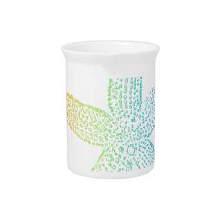 Colorful Starfish with no background Beverage Pitcher