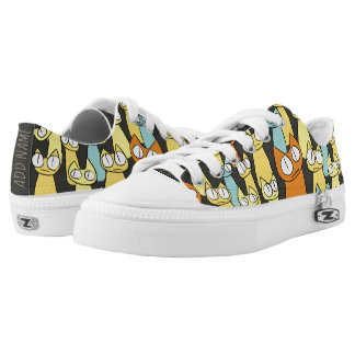 Colorful Staring lot Cats Low-Top Sneakers