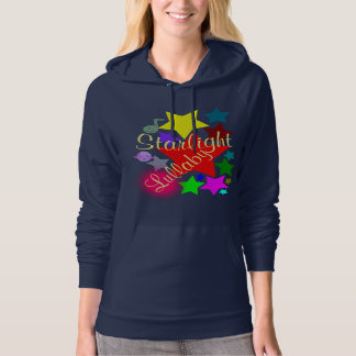 Colorful Starlight Lullaby Navy Pullover Hoodie