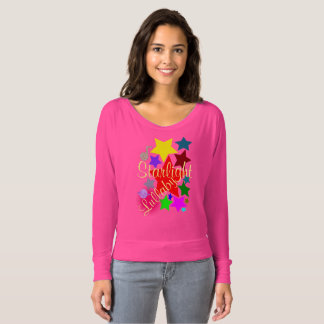 Colorful Starlight Lullaby Neon Pink T-shirt