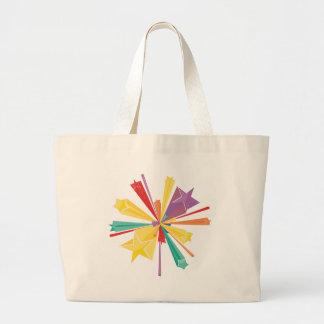 Colorful Stars2 Large Tote Bag