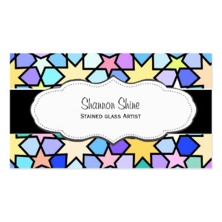Colorful Stars Arty Business Cards