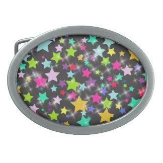 Colorful Stars Belt Buckle