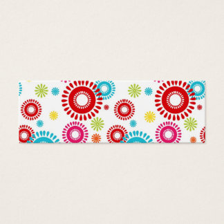 Colorful Stars Bold Bursts of Color Mini Business Card