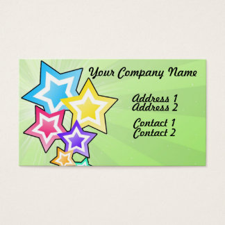 Colorful Stars Business Card