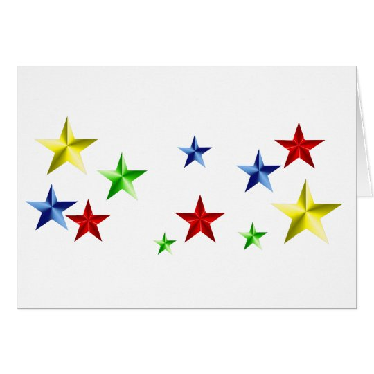 Colorful Stars Card