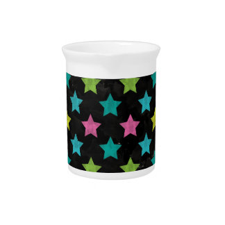 Colorful Stars III Beverage Pitcher
