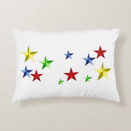 Colorful Stars Accent Pillow