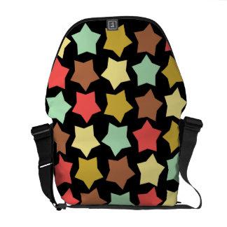 colorful stars messenger bag