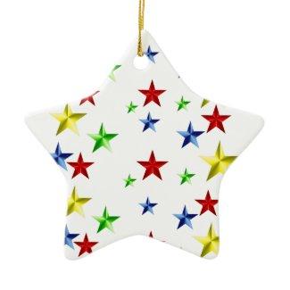 Colorful Stars ornament