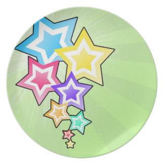 Colorful Stars Plate