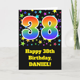 Colorful Stars Rainbow Pattern 38 Birthday Card