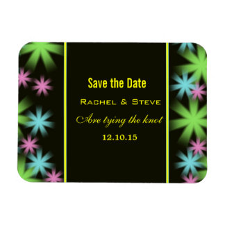 Colorful Stars Save the Date Flexi Magnet