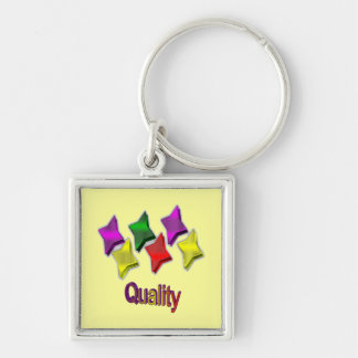 Colorful Stars Star Quality Key Chain