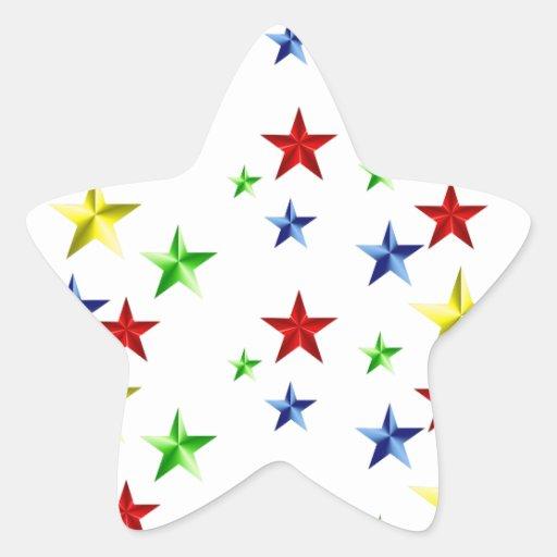 Colorful Stars Star Sticker