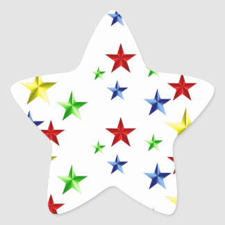 Colorful Stars Star Sticker