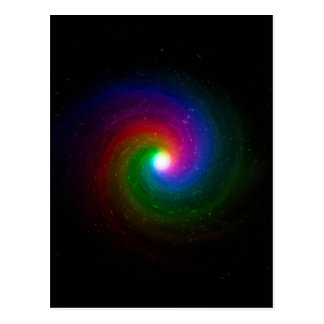 Colorful Stars Swirling Towards a Bright Center Postcard