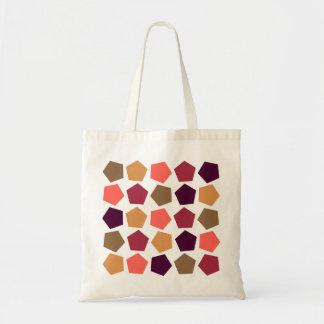 colorful stars tote bag