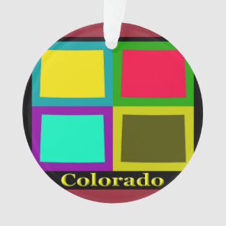 Colorful State Of Colorado Pop Art Map Ornament