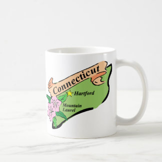 Colorful State of Connecticut Map Tees, Gifts Mug