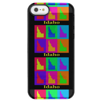 Colorful State of Idaho Pop Art Map Clear iPhone SE/5/5s Case