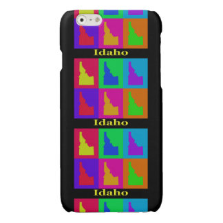 Colorful State of Idaho Pop Art Map Glossy iPhone 6 Case