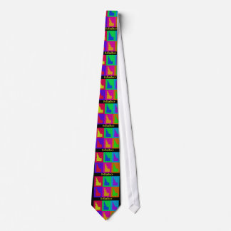 Colorful State of Idaho Pop Art Map Tie