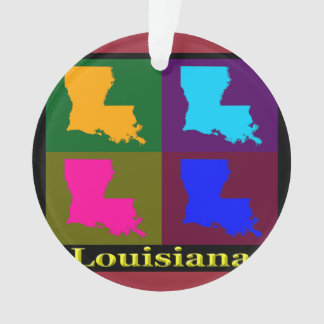 Colorful State of Louisiana Pop Art Map