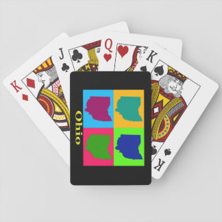 Colorful State of Ohio Pop Art Map Card Deck