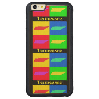 Colorful State of Tennessee Pop Art Map Carved® Maple iPhone 6 Plus Bumper