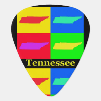Colorful State of Tennessee Pop Art Map Guitar Pick
