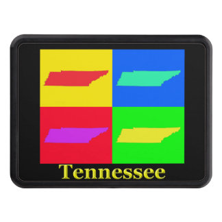 Colorful State of Tennessee Pop Art Map Hitch Cover