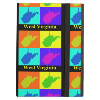 Colorful State of West Virginia Pop Art Map iPad Air Cover