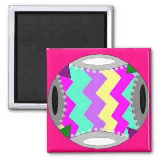 Colorful Static 2 Inch Square Magnet