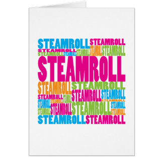 Colorful Steamroll Card