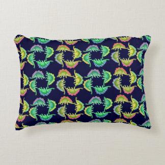 Colorful Stegosaurus Dinosaur Accent Pillow
