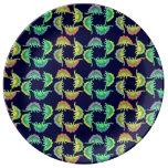 Colorful Stegosaurus Dinosaur Porcelain Plate