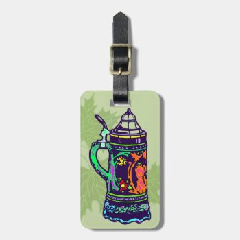 Colorful Stein Luggage Tag by HolidayBug at Zazzle