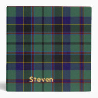 Colorful Stephenson Scottish Plaid Binder