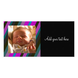 Colorful Stipes Personalized Photo Card