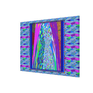 Colorful Stone Carving Deco High Energy Spectrum Canvas Print