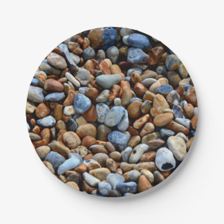 Colorful stone texture 7 inch paper plate